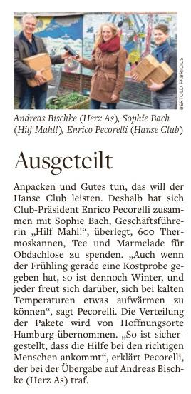 """Artikel aus der """"Welt am Sonntag"""" (28.02.21)"""